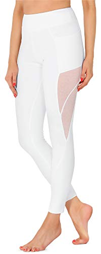 Merry Style Leggings Lunghi Pantaloni con Pizzo Donna MS10-357(Bianco,XL)
