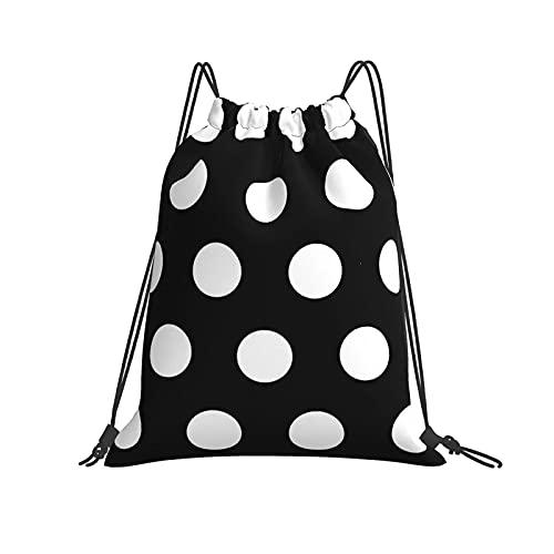 Bolsa clásica con cordón Polk Dots Gym Sack Bag Mochila de poliéster para hombres y mujeres