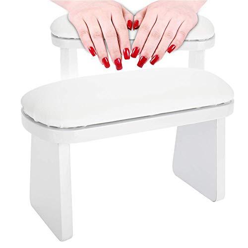 Jadeshay Cojín de Mano Nail Art Manicura Cojín de Descanso de Manos para reposabrazos Salón de manicura(Blanco)