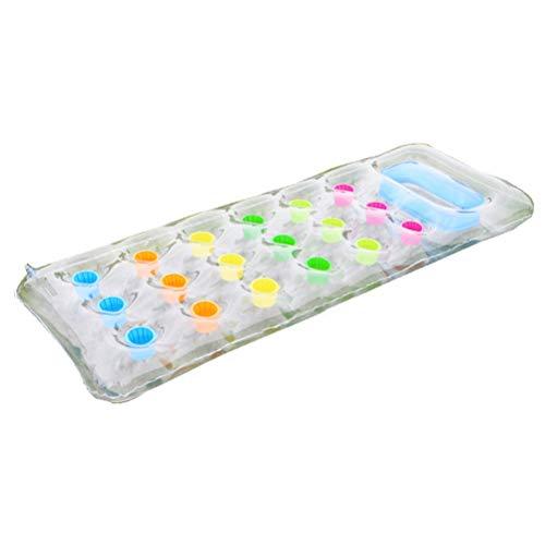 Fangteke 18-Pocket Suntanner Lounge Schwimmende Liege Wassersport Verdickte PVC-Luftmatratze Aufblasbares Schwimmkissen Wasser Schwimmendes Bett
