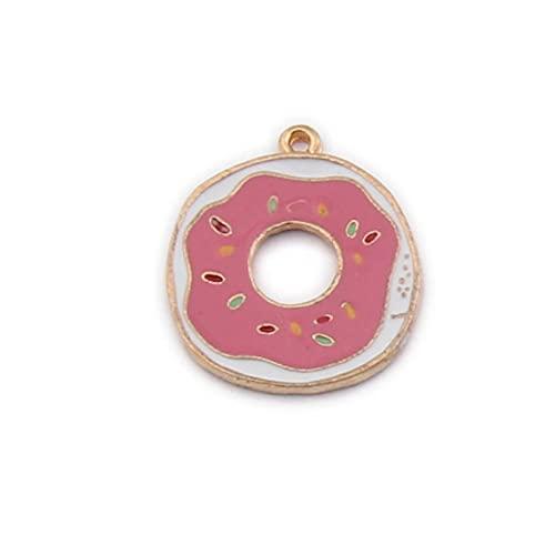 LLBBSS 10 Unids/Lote Paleta De Hielo Lolly Donut Encantos De Esmalte Accesorios Color Dorado Artesanía De Bricolaje
