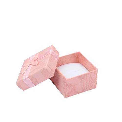 5 Stücke Geschenkschachteln TOYMYTOY Klein Geschenkbox quadratisch mit Schleife für Hochzeit Party Rosa