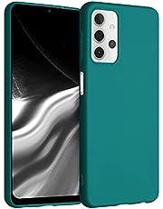 kwmobile telefoonhoesje compatibel met Samsung Galaxy A32 5G - Hoesje voor smartphone in mat petrol
