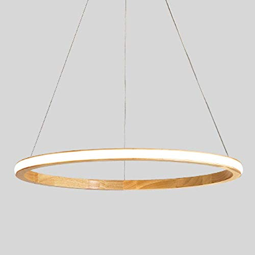 JYXGFSQ LED Dimmable Pendant Lights Dining Room Lamp 3000K-6000K with Remote Control Wood and Acrylic Pendant Lamp Height Adjustable Ceiling Lights Hanging Lamp for Living Room Villa Bedroom