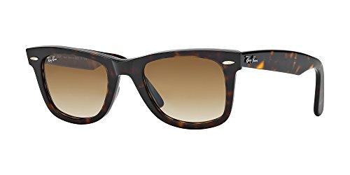 Ray Ban RB2140 WAYFARER 902/51 50M Tortoise/Crystal Brown Gradient Sunglasses For Men For Women Crystal Brown Gradient Sunglasses
