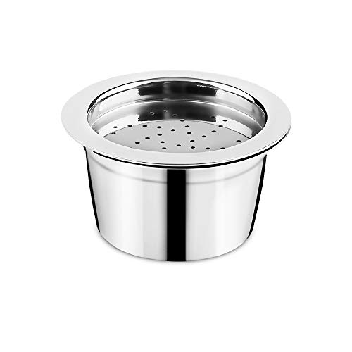 Refillable Stainless Steel Coffee Capsule Reusable refill Coffee filter Compatible for K-fee Version Starbucks Version Caffitaly Tchibo Cafissimo ALDI Expresso (Capsule)