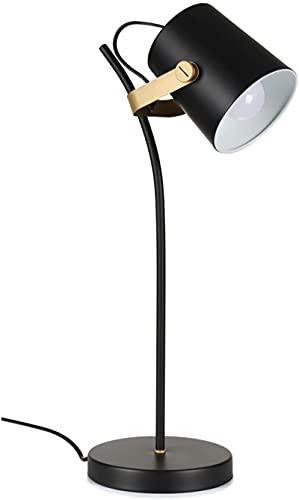 Lámpara de mesa de metal moderna Luz de escritorio de noche Norte Europa Número de noche Nightstand de la lámpara con la sombra de metal para la