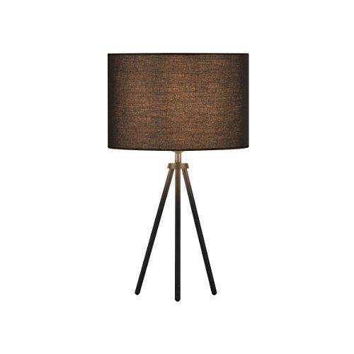 SLV LED Tischleuchte Fenda Mix & Match | 3er Set: Leuchten-Stoffschirm Ø30cm schwarz, Dreibein, E27 Leuchtmittel | Moderne Design-Tischlampe Wohnzimmer-Beleuchtung, Flur, Esszimmer, Kommode, Ambiente