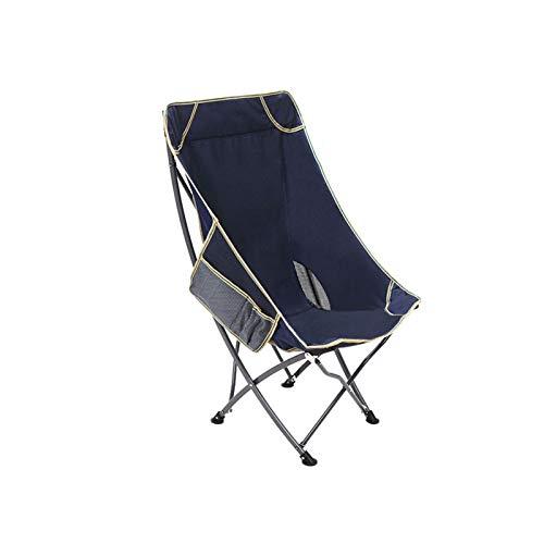 CJSWT Silla de Camping portátil Ligera Mochilero Plegable al Aire Libre Mochilero de la Espalda Alta Sala de salón con reposacabezas para Deportes Picnic Playa Pesca de Senderismo,F
