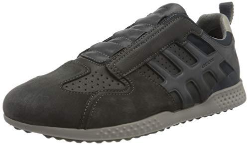 Geox Herren U SNAKE.2 A Sneaker, Grau (Anthracite), 44 EU
