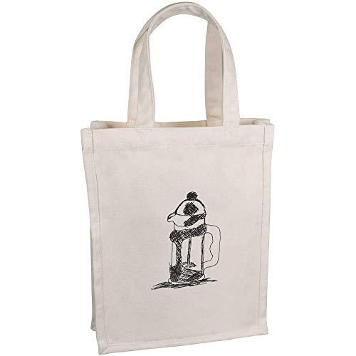 Azeeda 'Kaffeemaschine' Kleine Premium Canvas Einkaufstasche (BG00037695)