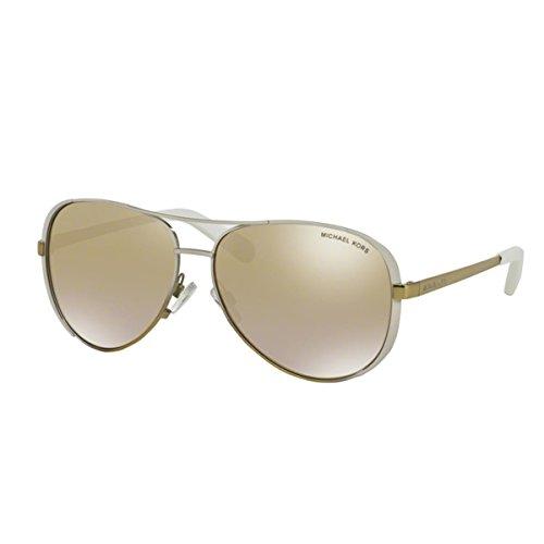 Michael Kors Chelsea MK5004 Gafas de sol, White/Gold Fade 10166E, 59 Unisex-Adulto