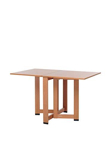 Foppapedretti Cartesio Tavolo con Piani Pieghevoli, Noce