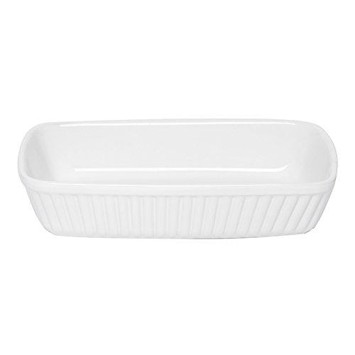 Excelsa Grande Forno Pirofila Rettangolare, Ceramica, Bianco, Dimensioni: 31 x 25 cm