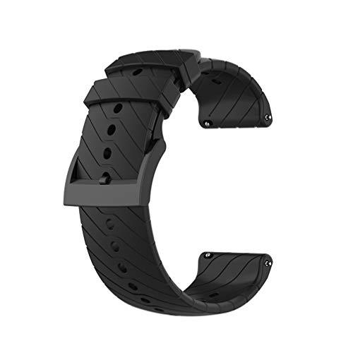 Meiruo 24mm Correa para Suunto D5/Suunto 7/Suunto 9/9 baro/Suunto Spartan Sport Wrist HR (Negro)