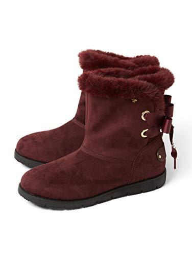 TOM TAILOR für Frauen Schuhe Boots mit Schleifen Berry, 39