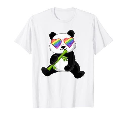 Gay Panda Lover Gay Pride Stuff For Teen Girls LGBTQ Rainbow T-Shirt