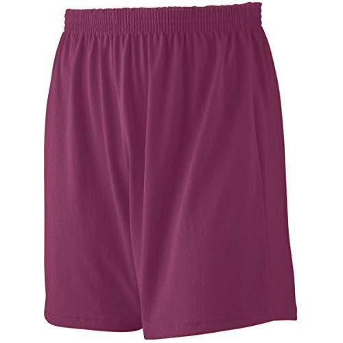 Augusta Sportswear Jersey Knit Short, XL, Maroon