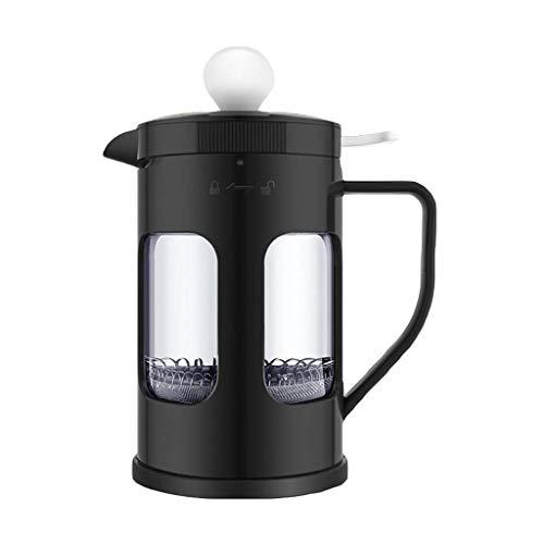 Moulin à café manuel -Français machine à café filtre résistant à la chaleur Machine à café Cafetière à café Teapot Filtre Coupe 300/600/1000/1500 ml (Couleur: C, Taille: 11 * 17,8 cm (600 ml)) Haike W
