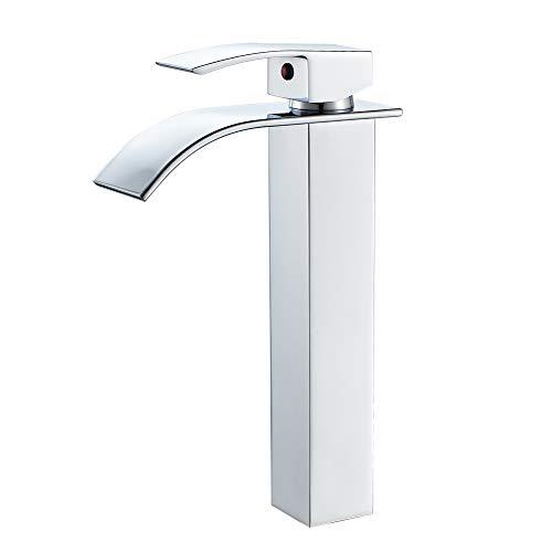 VOTON Bathroom Vessel Faucet Chrome Tall Waterfall...