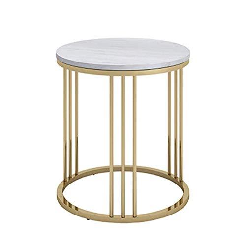 Mesas auxiliares de sofá, mesa de centro de mármol, una capa, resistente a altas temperaturas, mesa de centro de metal, dormitorio, lujoso hotel, mesita de noche, diseño fácil de limpiar, mesa de sal