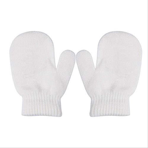 Solid Toddler Gloves Winter Kintting Mittens Kids Black White Red Warm Gloves Unisex Magic Elasticity Crochet Luvas Guantes Girl