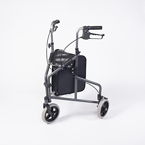 NRS Healthcare Déambulateur 3 roues ultra léger en aluminium