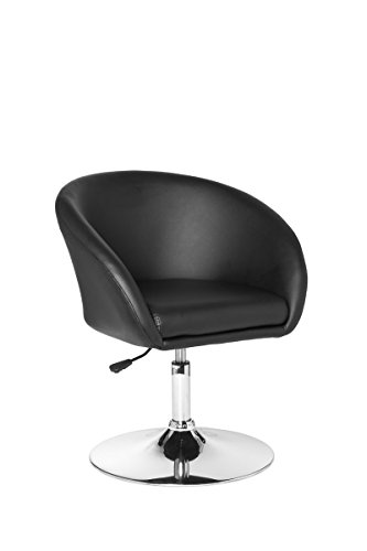Preisvergleich Produktbild Dastro Design Relaxsessel Lift Loungesessel Bezug Kunstleder Cocktailsessel Leder-Optik Clubsessel 120 kg XXL (schwarz)