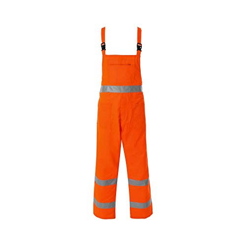 WORK AND STYLE Warnschutz-Latzhose - Lumen Orange, M