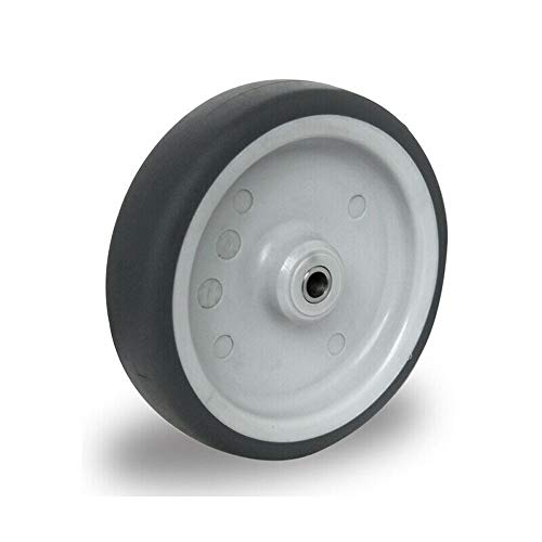 Ersatzrad 100 mm Edelstahl Gummi Rad Rolle Räder Einbaurad inkl. Achsmaterial