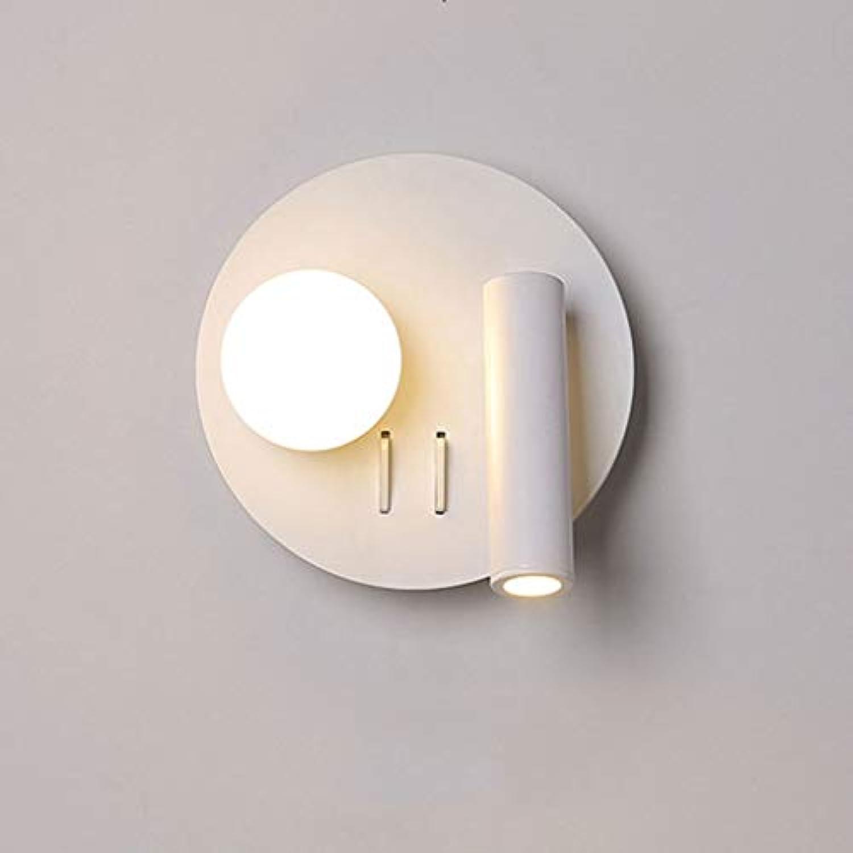 JIAQI 360 Flexible drehbare LED Wandleuchte Moderne minimalistische Wohnzimmer Esszimmer Schlafzimmer Gang Hintergrund Wand Dekoration Lampe A ++ (Farbe   A)