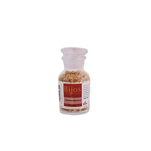 BiJos Select Räucherwerk in ca. 60 ml Glasfläschchen Zirbenweihrauch - unterstützt dabei, die Lebensenergie und Erholungsfähigkeit zu stärken