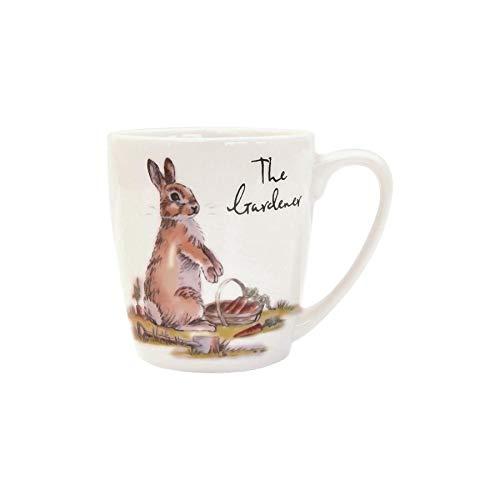 Churchill Country Pursuits Mug Animal - Vintage Stampato Coniglio di Coniglietto Tea Coffee Cup - 300ml - The Gardener