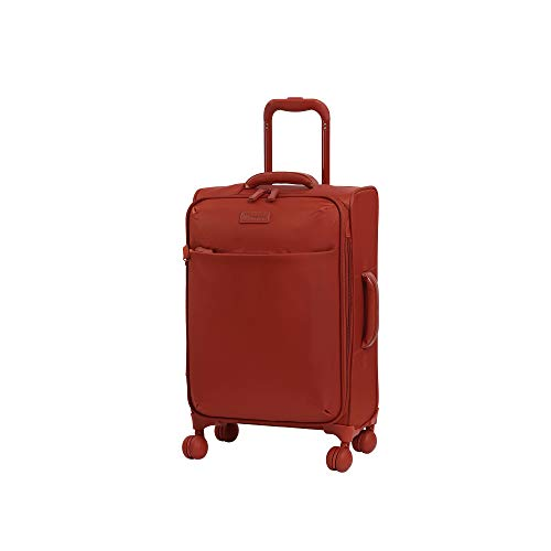 "it luggage 22"" Lustrous Softside Expandable Carry-On, Red"