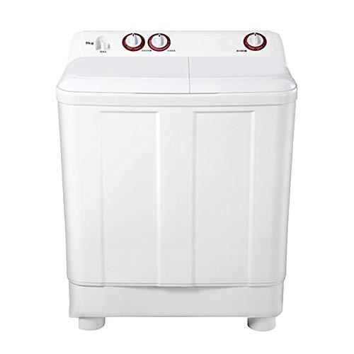 Petit Lave-Linge Semi-Automatique à Double Seau de 9 kg de Grande capacité avec Fonction de Lavage et d'assèchement, pour dortoir et buanderie