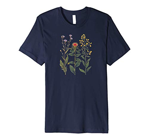 Beautiful Vintage Wildflowers and Thistles T-Shirt