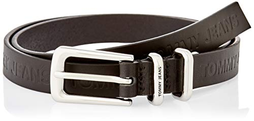 Tommy Jeans Damen TJW Essential Leather Belt Gürtel, Schwarz, 75