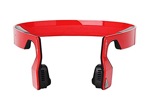 Aftershokz Bluez 2S Wireless Bone Conduction Bluetooth Headphones, Red, (AS500SR)