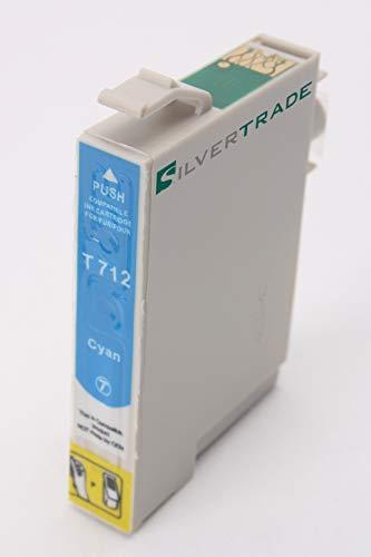 Silvertrade Cartucho de Impresora Compatible como reemplazo de Epson T0712 EPSON BX300F EPSON BX310FN EPSON BX600FW EPSON BX610FW EPSON B40W EPSON D120 EPSON D78 DX4000 DX4400 DX5000 DX6050
