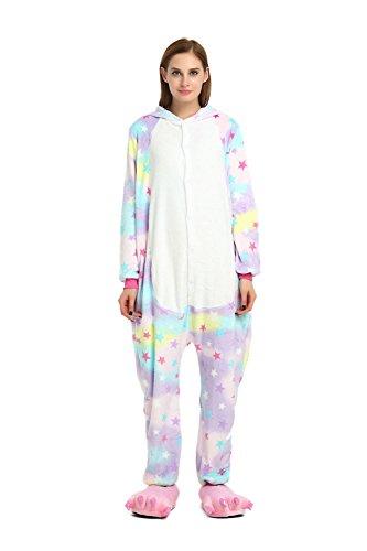 HOYMN Mädchen/Jungen Kinder Einhorn Pyjamas Schlafanzug Tierkostüm Unisex Jumpsuit Cosplay...