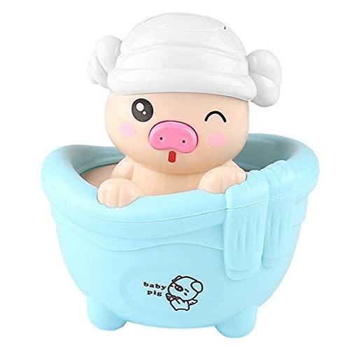 MOHAN88 Juguetes de baño Cerdito Niños Jugando con Agua Piggy Juguetes Baño para niños Juguetes con rociador de Agua para niños Regalos- Azul- 9.5x9x11.5cm