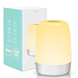 Sunrise Simulation Wake-Up Light, DDSKY Sunrise Simulation Alarm Clock LED Touch Night Light Colored Bedside Light Sleep Aid with USB Cable for Kids Adults Heavy Sleepers