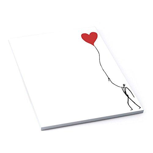 Briefpapier schwarz weiß rot HERZ Briefblock Schreibblock Notizblock DIN A4 HERZMENSCH 50 Blatt 120g stark Liebe Valentinstag Muttertag Hochzeit