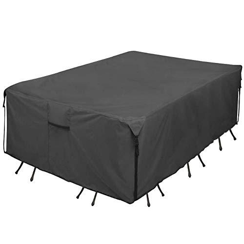 Lecxin Cubierta de Muebles, Cubierta de Muebles de Patio de jardín Duradera a Prueba de Agua Cubiertas de sillas de Mesa al Aire Libre con Hebilla a Prueba de Viento incorporada para Muebles de ratán