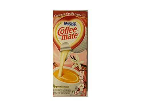 Liquid Coffee Creamer, Cinnamon Vanilla, 0.375 oz Mini Cups, 50/Box