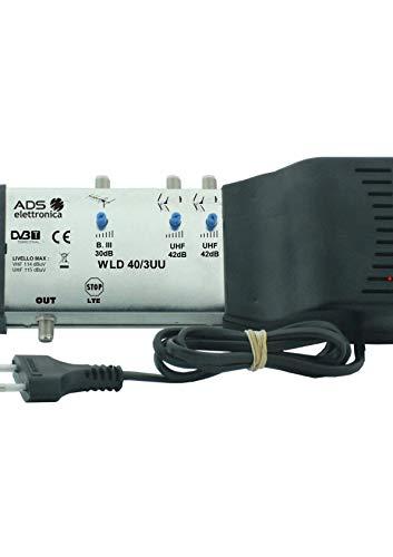 Centrale TV multingresso autoalimentato per la ricezione e distribuzione di segnali provenienti da diverse antenne