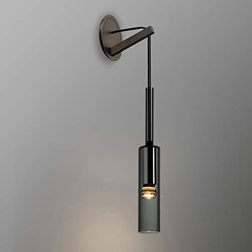 De enige goede kwaliteit Decoratie Nachtlampje Koper Zwarte Slaapkamer Creatieve Lamp Studie Woonkamer Badkamer Kast Lamp Post-moderne Crystal Wandlamp 7 * 42 (cm)