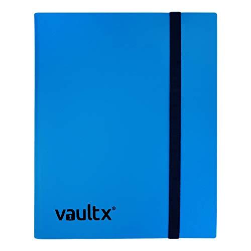 Vault X Sammelkarten-Album - 9 Fächer Sammelkarten Trading Cards Mappe - 360 Fächer mit Seitenöffnung für Spielkarten zum sammeln und tauschen (blau)