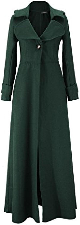 Pugaomsiw im Herbst und Winter Damenmode_2016 Winter Frauen Wolle, Kaschmir - Mantel verlngert, weibliche auslndische Frauen,schwrzlich grün,l