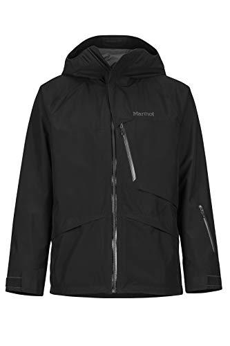 Marmot Herren Hardshell Ski- Und Snowboard Jacke, Winddicht, Wasserdicht, Atmungsaktiv Lightray, Black, M, 74180